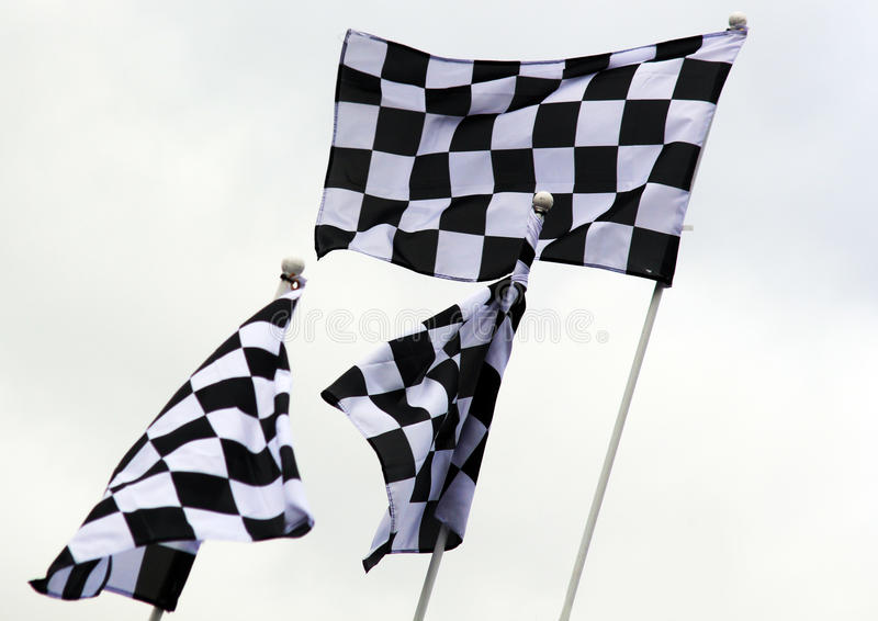 Grand Prix Flags royalty free stock images