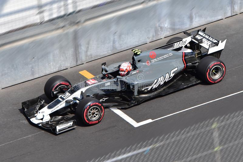 HAAS-MAGNUSSEN-GP Formula 1 MONACO 2017 stock photo