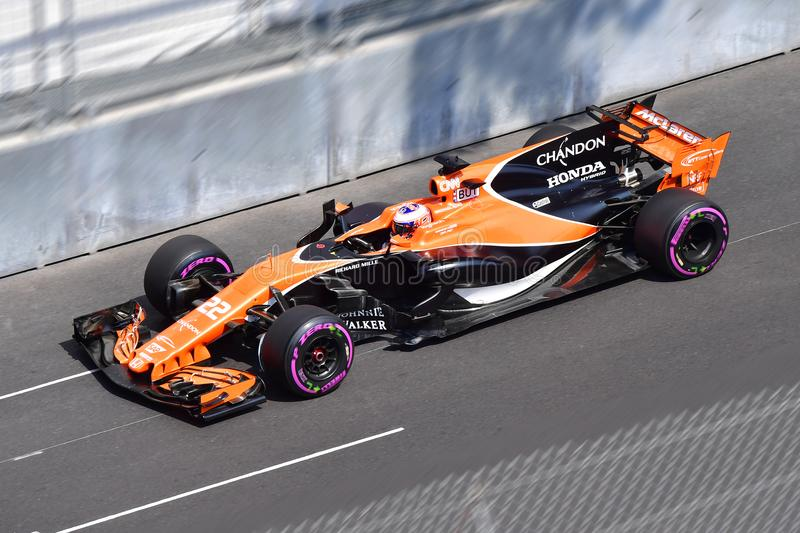 McLAREN-BUTTON-GP FORMULA 1 MONACO 2017 stock image