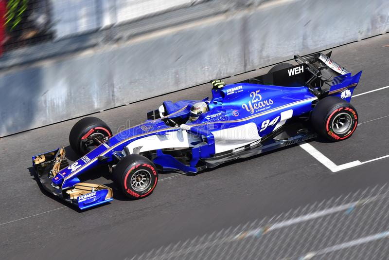 SAUBER-WEHRLEIN-GP FORMULA 1 MONACO 2017 royalty free stock photo