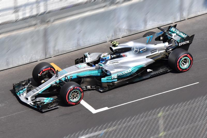 MERCEDES AMG-BOTTAS-GP FORMULA 1 MONACO 2017 royalty free stock photos