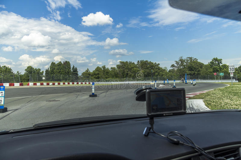 On the Grand Prix of Montreal Track. On the Grand Prix Track in Montreal, Canada royalty free stock photography