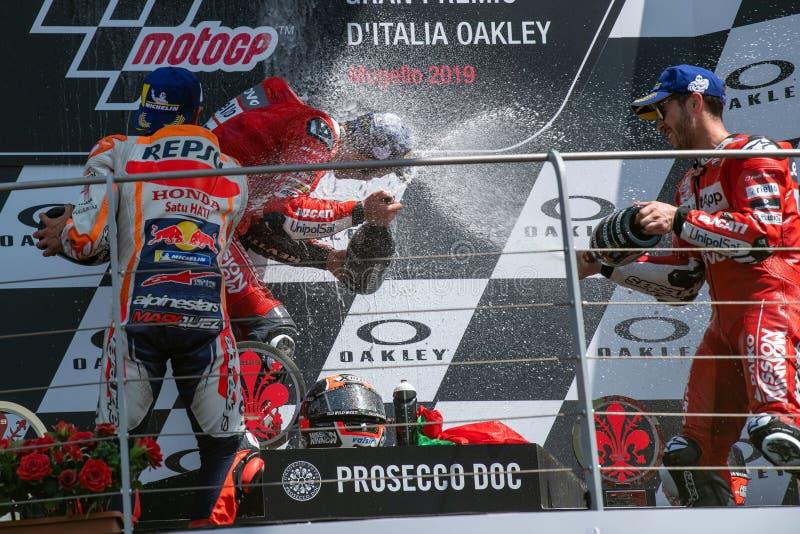 Grand Prix MotoGP D'Italie 2019 - Mugello - Podio Motogp photo libre de droits