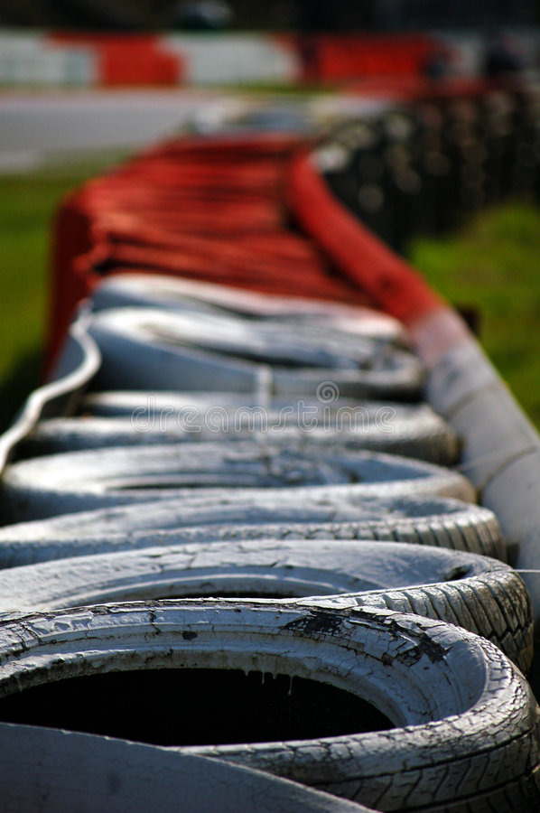 Grand Prix tyre wall royalty free stock images
