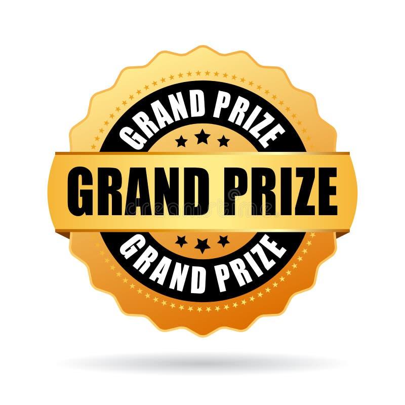 Grand prize gold medal vector illustration