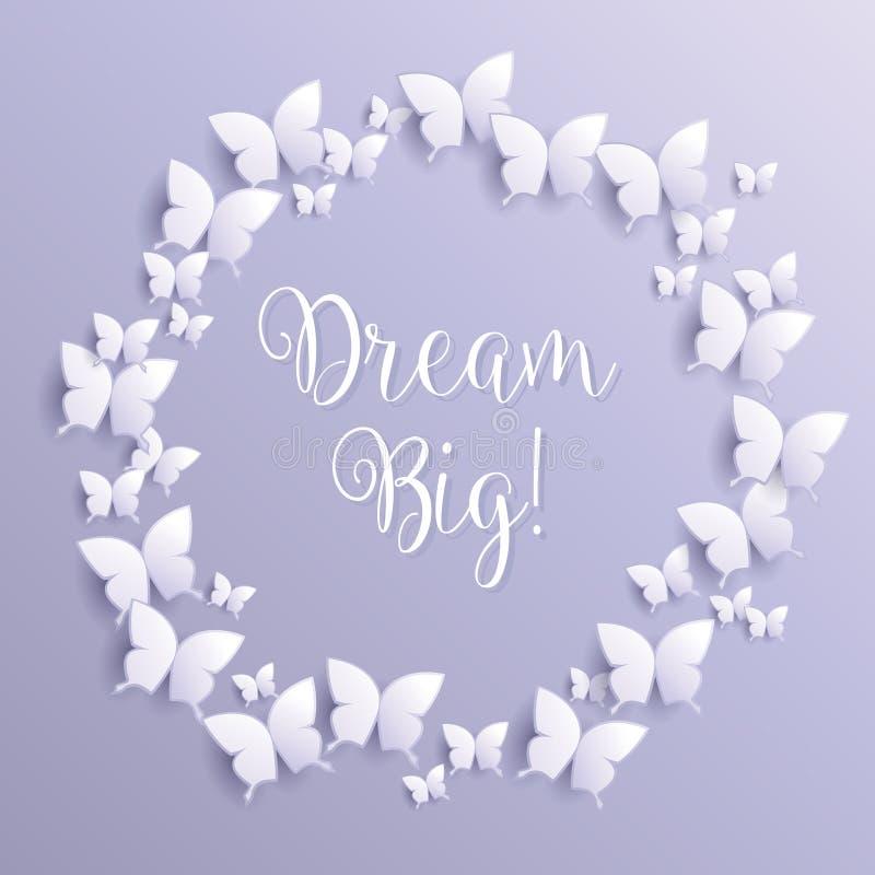 Grand rêveur ! message inspiré de motivation de citation - vecteur eps10 illustration libre de droits