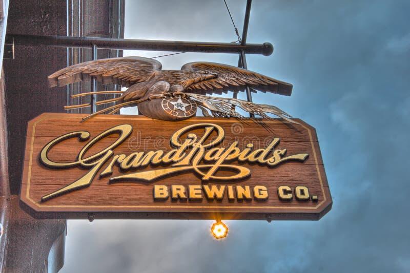 Grand Rapids che fa il segno della società fotografia stock