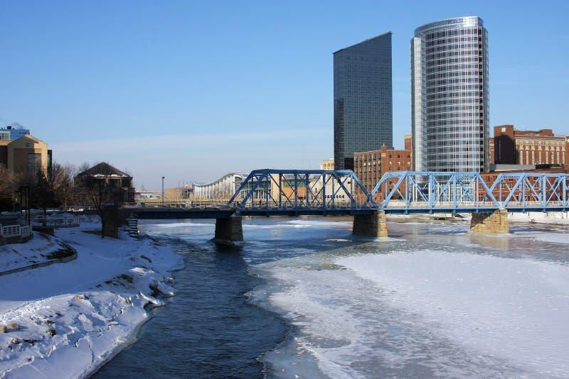 Grand Rapids da baixa, MI foto de stock royalty free