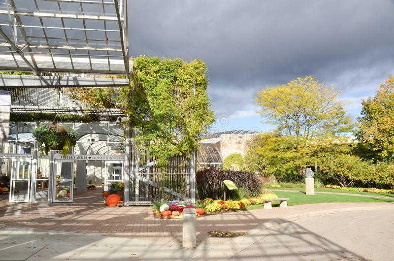 Grand Rapids Frederik Meijer Garden. GRAND RAPIDS, MI / USA - OCTOBER 15, 2017: The Frederik Meijer Gardens and Sculpture Park, shown here, has hosted over ten royalty free stock photography