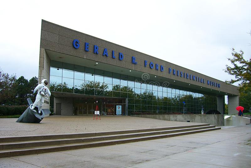 Grand Rapids - Gerald Ford Presidential Library royalty-vrije stock afbeelding