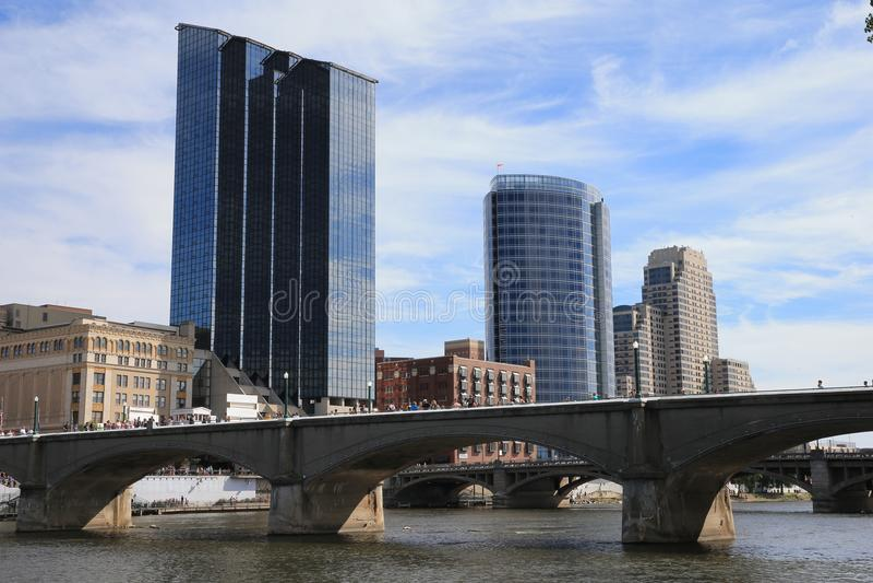Grand Rapids, Michigan de stad in royalty-vrije stock foto's