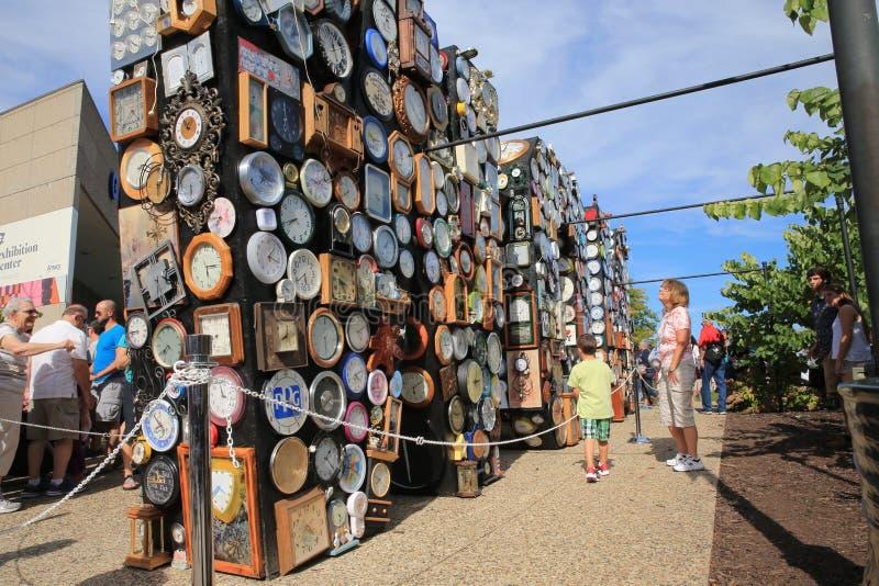 Grand Rapids, Michigan do centro, ArtPrize imagem de stock
