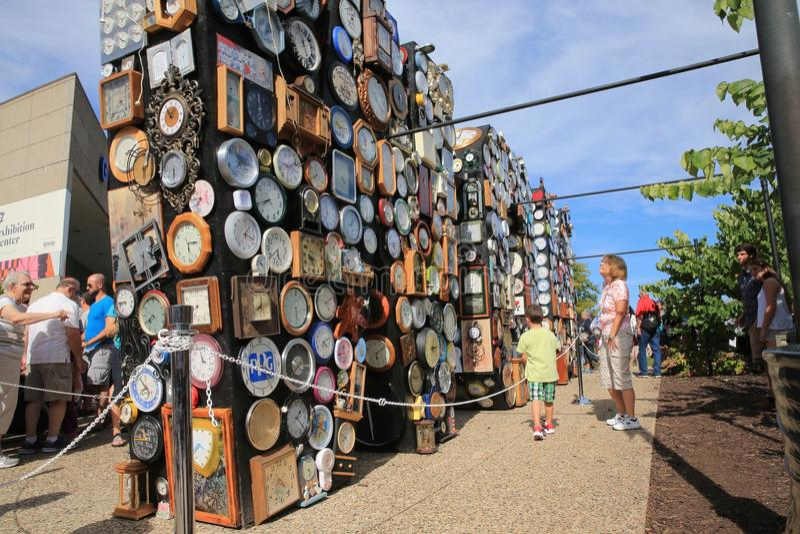 Grand Rapids, Michigan downtown, ArtPrize stock image