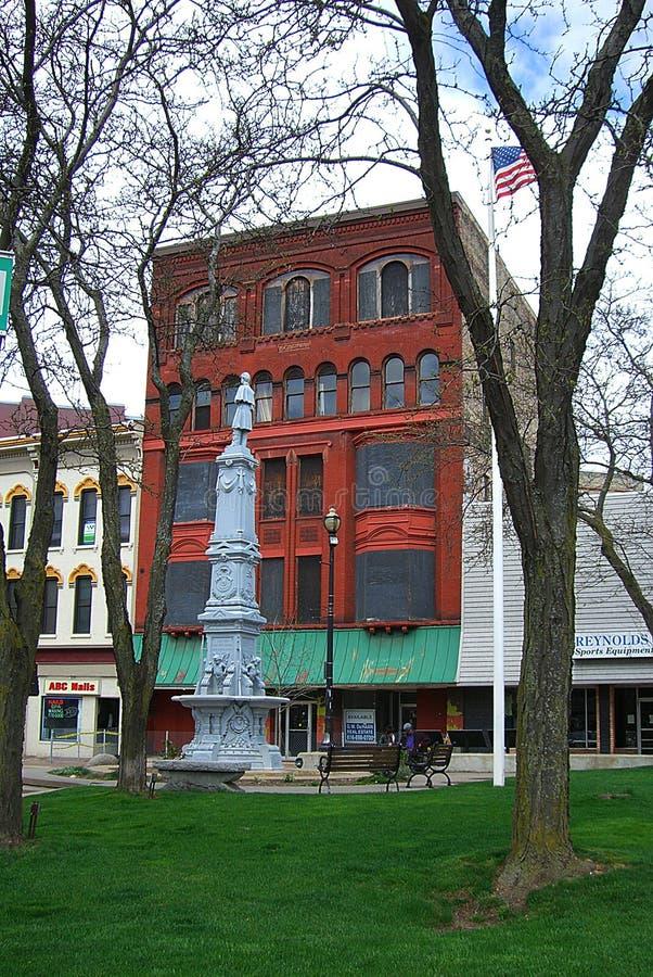 Grand Rapids, Michigan - monumento dos soldados da guerra civil imagens de stock royalty free