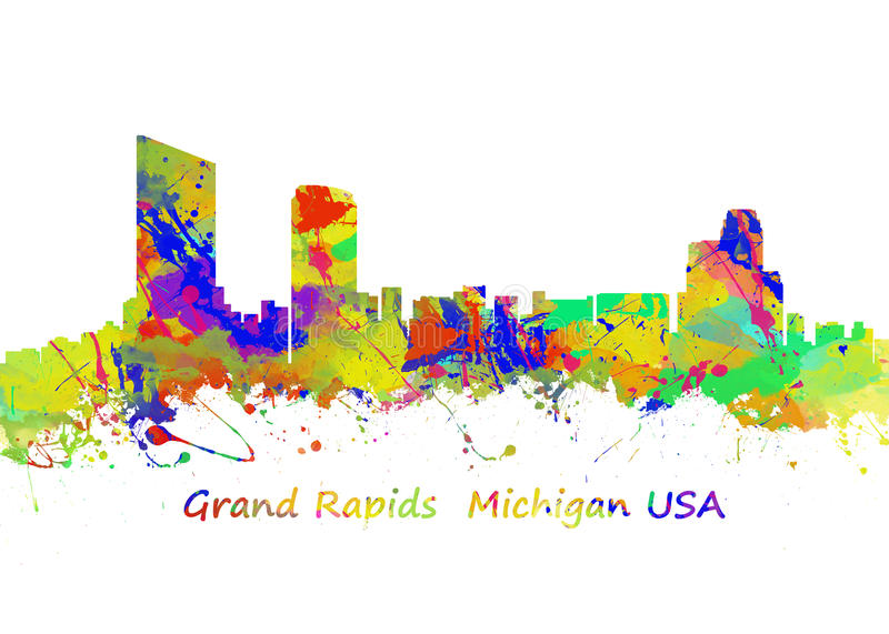 Grand Rapids Michigan USA lizenzfreie abbildung