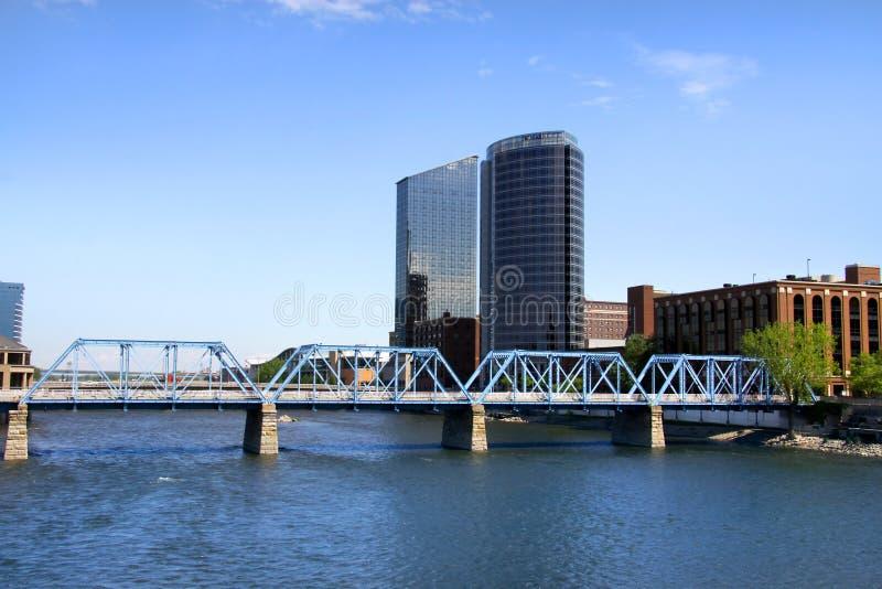 Grand Rapids van de binnenstad stock afbeeldingen