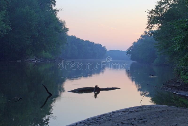 Grand River in Grand Rapids Michigan stock photos
