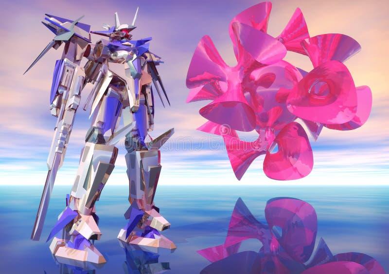 Grand robot de chrome illustration libre de droits