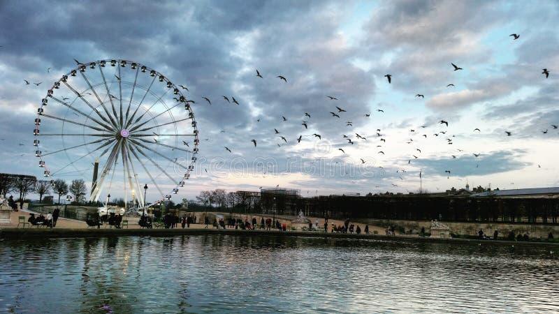 Grand roulez dedans Paris photographie stock