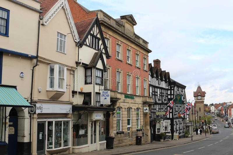 Grand-rue, Ledbury photo stock
