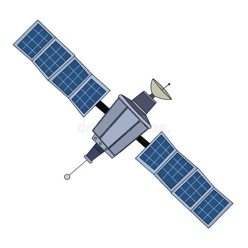Grand satellite de l'espace illustration libre de droits
