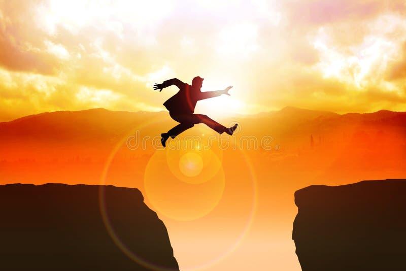 Grand saut illustration stock