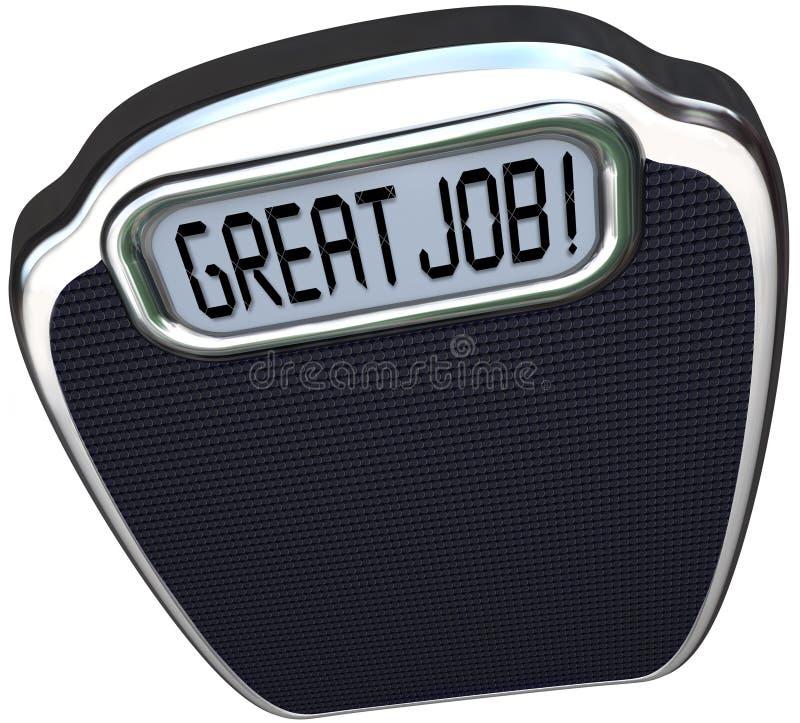 Grand but Sca de perte de poids de Job Praise Congratulations Reach Diet illustration de vecteur