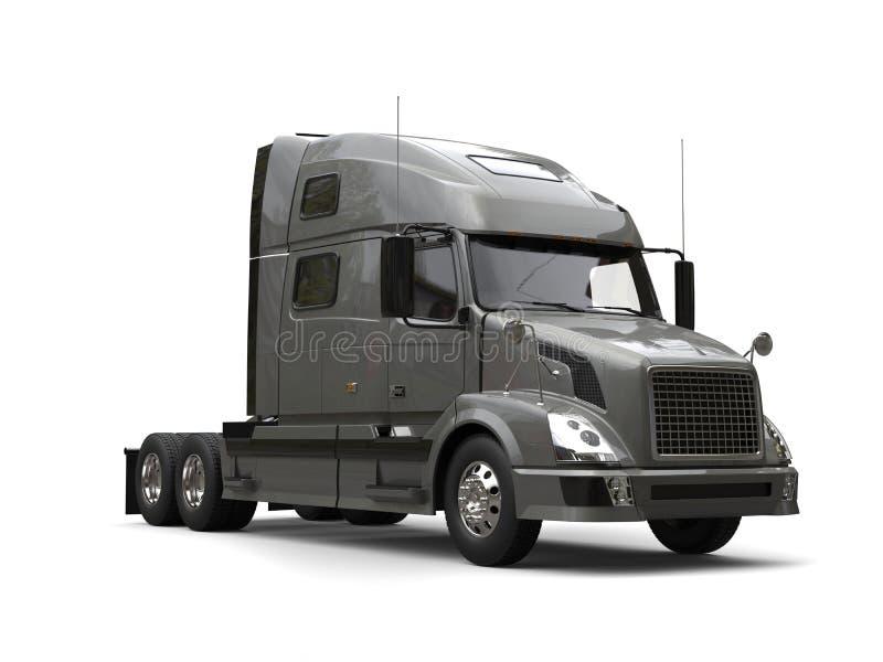 Grand semi camion de remorque gris illustration de vecteur