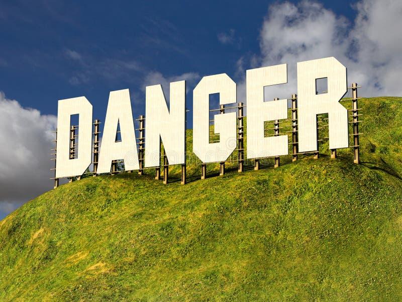 Grand signe avec le mot DANGER photo stock
