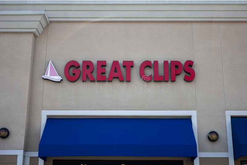 Grand signe de magasin d'agrafes image libre de droits