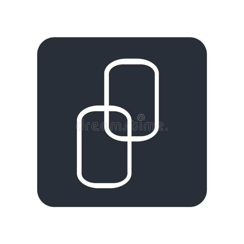 Grand signe et symbole à chaînes de vecteur d'icône d'isolement sur le fond blanc, grand concept à chaînes de logo illustration de vecteur