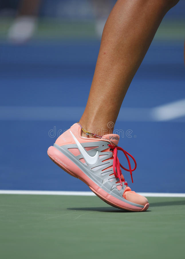 Download Grand Slam Champion Ana Ivanovich Wears Custom Adidas Tennis Shoes During Fourth Round Match At US Open 2013 Editorial Photo - Image: 36966601