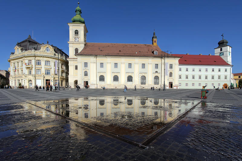 Download Grand Square, Sibiu, Romania Stock Photo - Image: 23368426