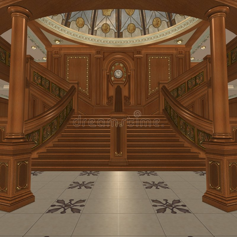 Grand Staircase vector illustration