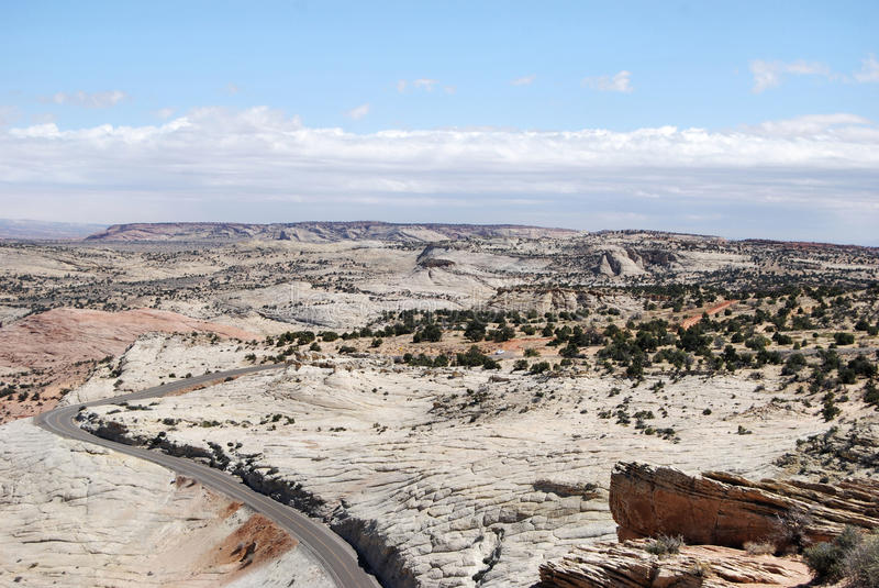 Grand Staircase-Escalante National Monument. This rugged expanse is in the southwest portion of Utah. It contains many mountain ranges and canyons royalty free stock image