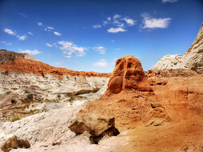 American Desert Southwest, Landscape Vista. American Desert Southwest. Colorful landscape vista. Utah, US stock images