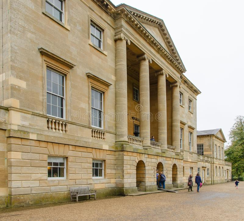 Grand stately home in Britain. Stately home in Britain that was once owned by the wealthy gentry of britain royalty free stock images