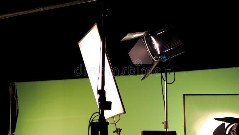 Grand studio allumant le kit 5000 watts avec la boîte molle photos libres de droits