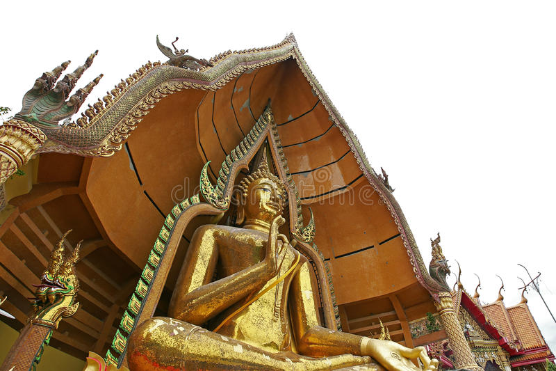 Grand sua de tham de wat de temple de statue de Bouddha d'or photos stock