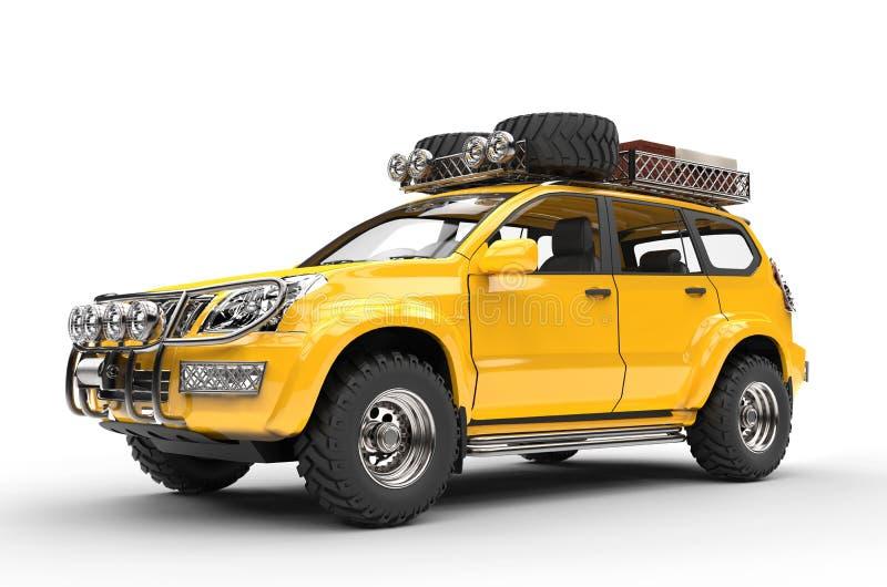 Grand SUV moderne jaune - emballé images libres de droits
