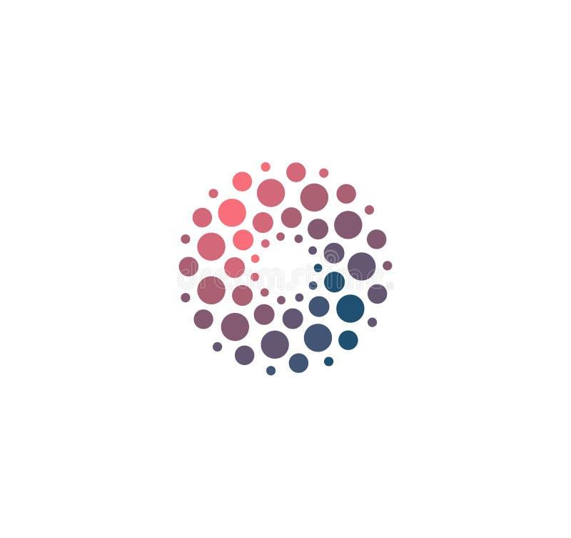 Grand symbole de base de dat d'analyse avancée Développement de signe d'intelligence artificielle Logo de pointe innovateur abstr illustration libre de droits