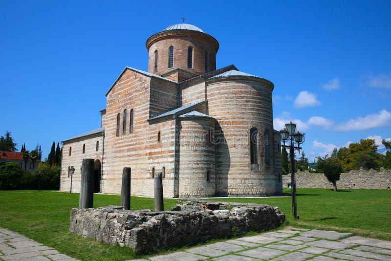 Grand temple de Pitsunda La cathédrale patriarcale de St Andrew photographie stock