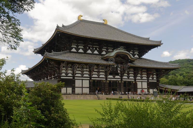 Grand temple oriental Todai-JI - Nara, Japon image libre de droits