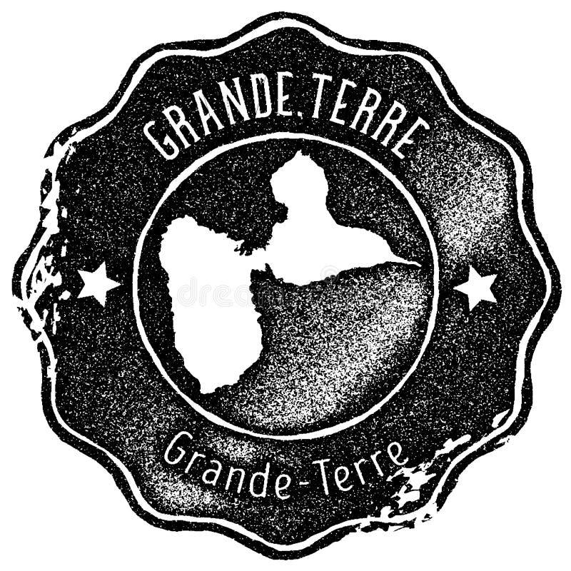 Grand-Terre timbre de cru de carte illustration libre de droits