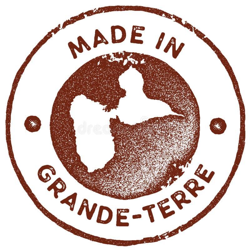 Grand-Terre timbre de cru de carte illustration de vecteur