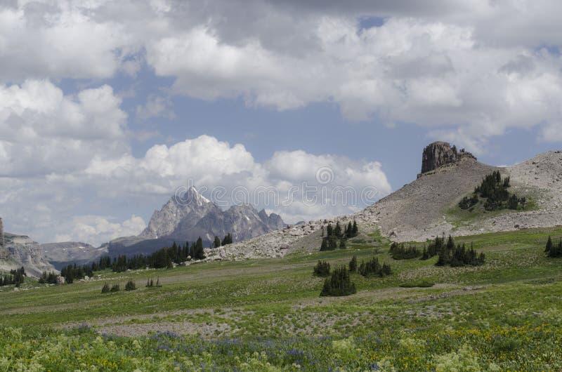 Grand Teton Clouds stock photo