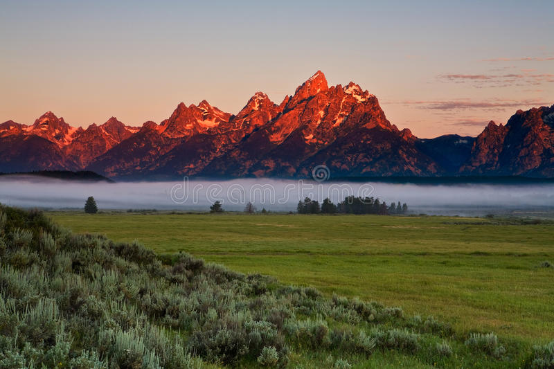 Grand Teton Dawn stock photography