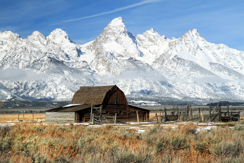 Download Grand Teton iconic barn stock photo. Image of mormon - 24330256