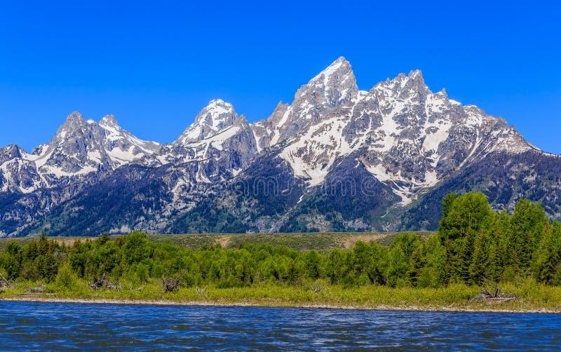 Grand Teton Mountain Landscape royalty free stock images