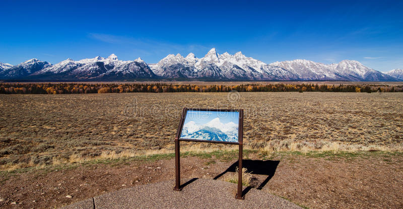 Grand Teton mountain range royalty free stock photo